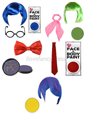 EMOTION CHARACTER FANCY DRESS COSTUME ACCESSORY KITS ANIMATED FILM MOVIE SET