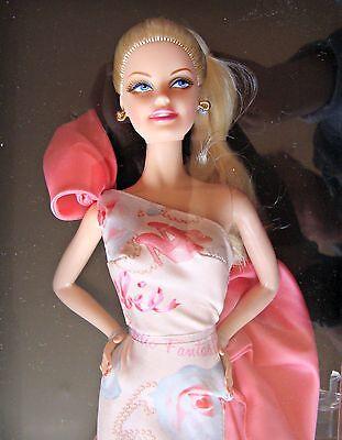 2010 Rose Splendor Barbie Doll Avon Spring Floral Pink Label Mattel Collector