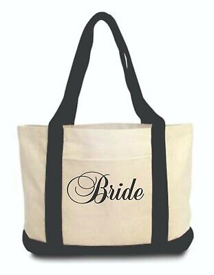 Bride Canvas Duffle Tote Bag New w/o Tags Bridesmaid maid of honor Gift Reusable