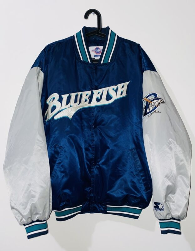 Vintage Baseball Bridgeport Bluefish Varsity Jacket sz XL