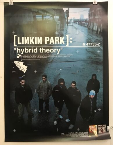 """LINKIN PARK Hybrid Theory / Frat Party 2001 18""""x24"""" PROMO poster EXC VG COND"""