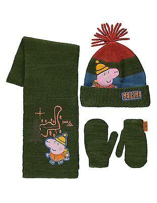 Peppa Pig: George Winter Set, Handschuhe / Hut / Schal, 1-3, 4-6 Jahre Ca. , Nwt ()