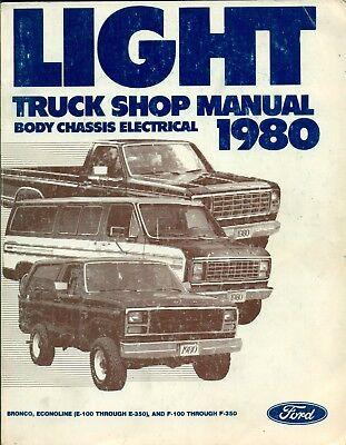 1980 Ford Light Truck F150 F250 Econoline Service Shop Repair Manual 3 Vol Set