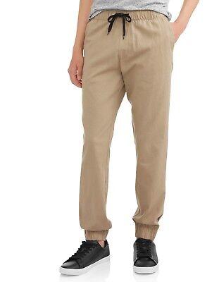 Cherokee Men's Khaki 4 Pocket Pull-On Ripstop Jogger Pants Size XL Cherokee Cherokee Drawstring Pull