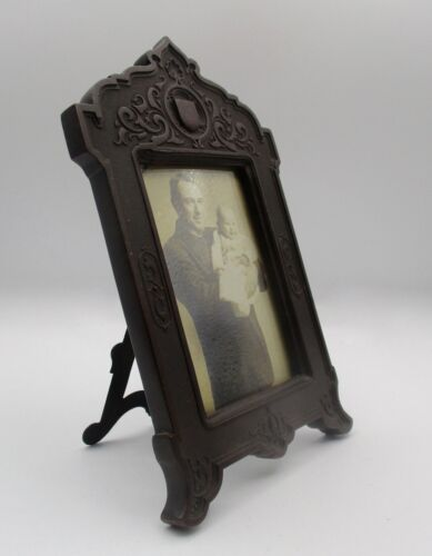 Antique Victorian Gutta Percha Photo Frame