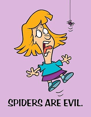 METAL MAGNET Woman Spiders Are Evil Spider Humor Family Friend MAGNET - Evil Spider Woman