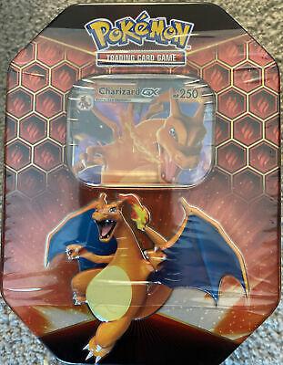 Pokemon TCG: Hidden Fates Charizard GX Tin Factory Sealed in Hand