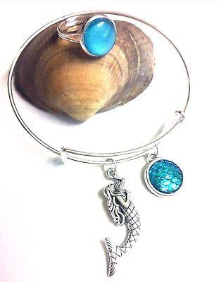 Mako Mermaid Ring, moon pool style & mermaid bangle bracelet.H2o just add water
