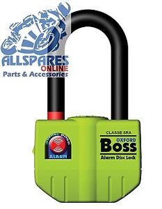 OXFORD BOSS MOTORCYCLE ALARM DISC LOCK THATCHAM APPROVED