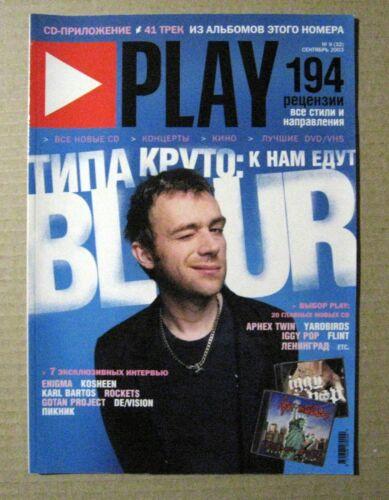 Play magazine 2003 Russia Blur Damon Albarn cover article Rare
