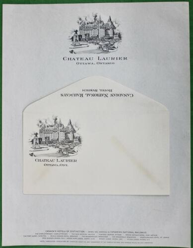 Original Vintage Canadian National Railway Chateau Laurier Letterhead/Envelope