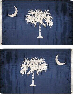 3x5 State of South Carolina Blue State Flag 3