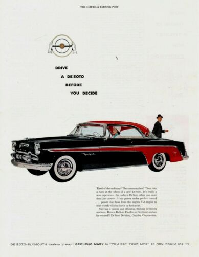 1955 ORIGINAL VINTAGE DeSOTO CAR MAGAZINE AD