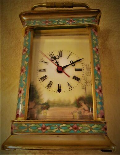 Vintage Porcelain Champleve Cloisonne Clock - China