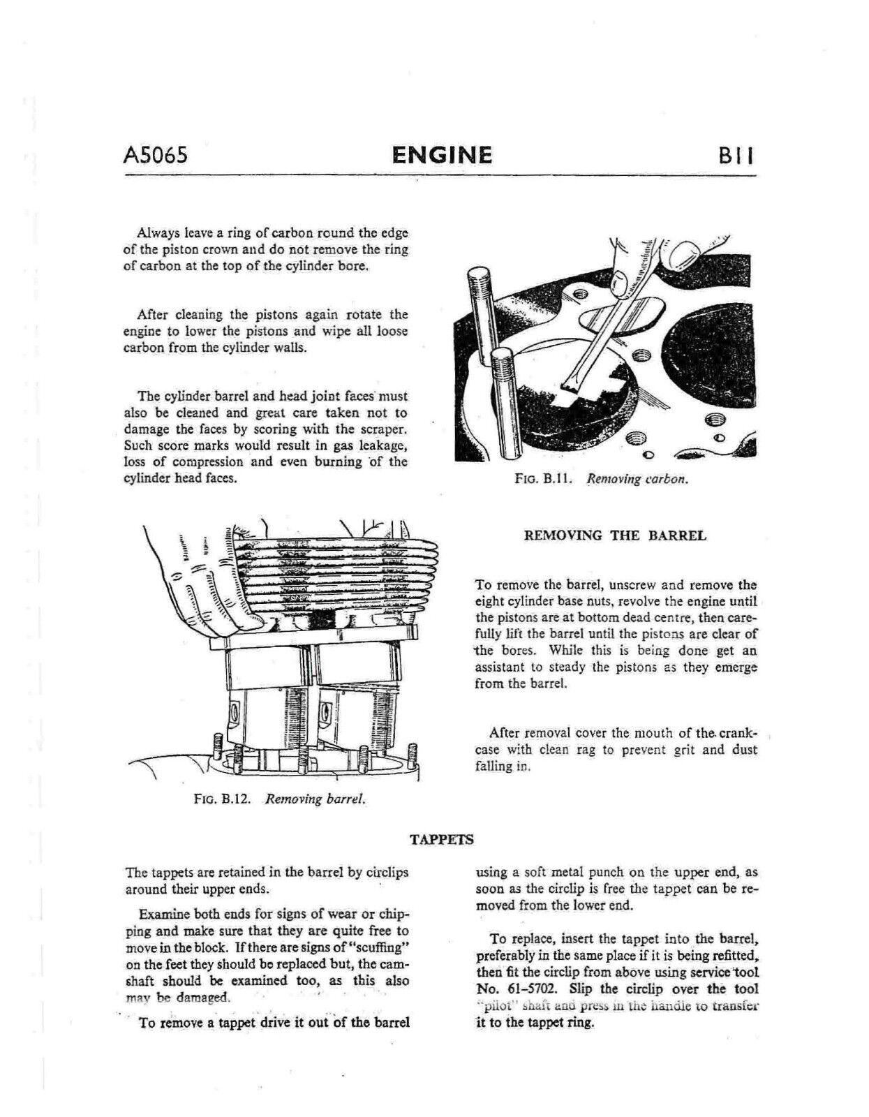 6 of 12 BSA workshop service manual 1966 A65 HORNET