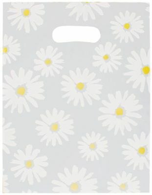 500 Plastic Merchandise Gift Bags, Daisy Frosted 9 x 12