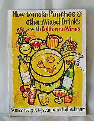 Mid Century Wine Advisory Board Mixed Drinks Recipe Booklet For California Wines