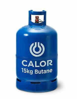 15KG BUTANE GAS CALOR BLUE BOTTLE FULL * COLLECTION HARROW MIDDX HA3 AREA*