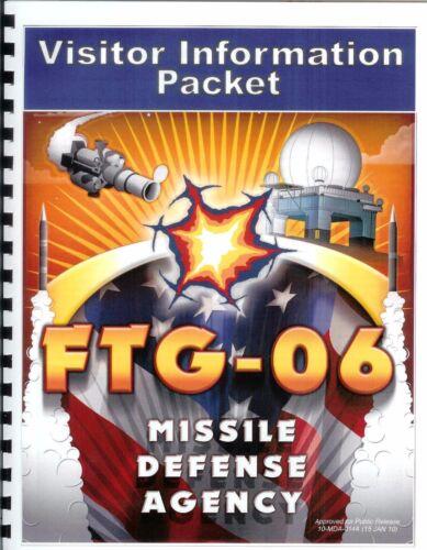 Rare Official Missile Defense Agency FTG-06 Flight Test Visitor Booklet–Free S&H