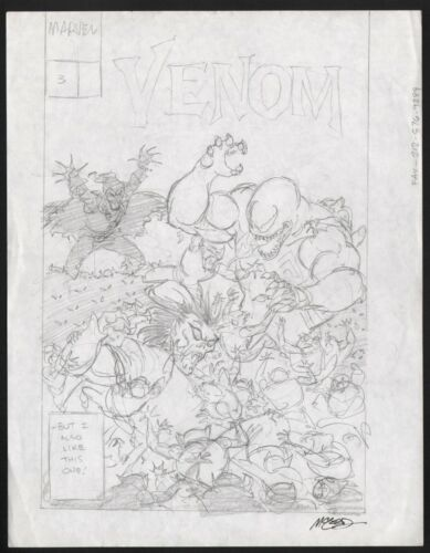 Bob McLeod Signed Original Comic Cover Art Prelim Venom Enemy Within #3 Morbius