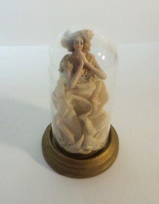 German BISQUE Porcelain Pincushion Doll, Mohair Wig, 19th C.