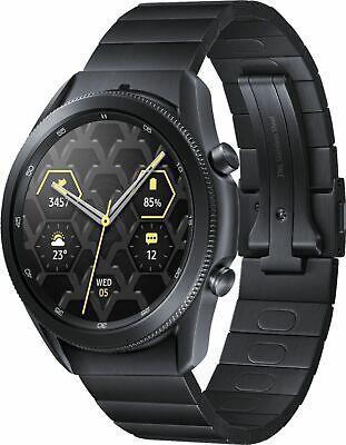 Samsung - Galaxy Watch3 Titanium Smartwatch 45mm BT - Mystic Black