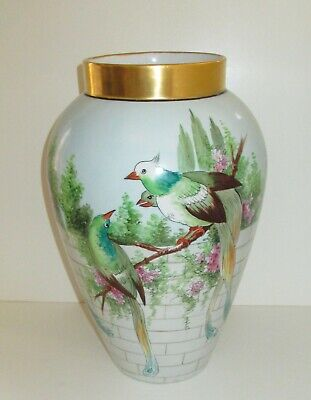 Vases Limoges Hand Painted Vatican
