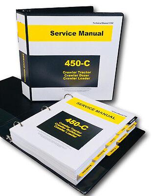 Service Manual For John Deere 450c Crawler Bulldozer Loader Dozer Tech Repair