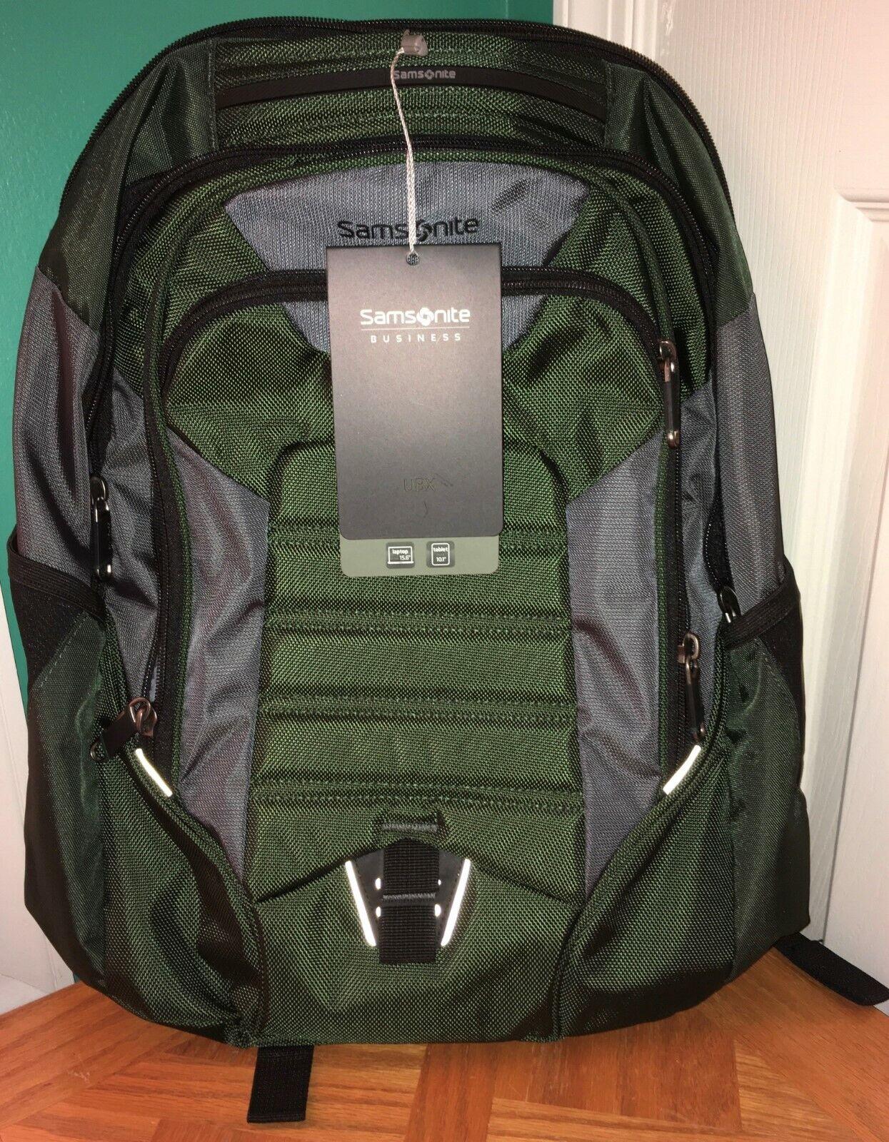 Samsonite UBX 18.0 X 13.5 X 8.5 Commuter Backpack Dark Olive NWT - $55.00