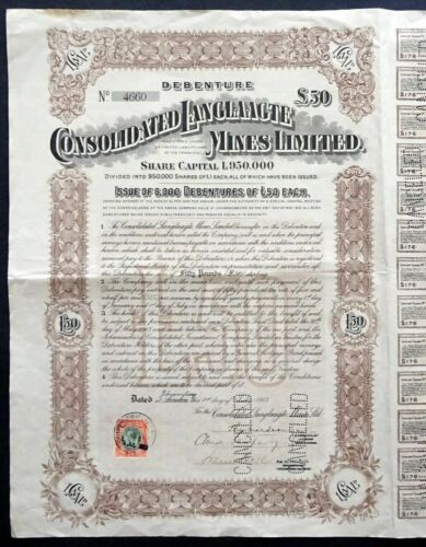 1913 Johannesburg, South Africa: Consolidated Langlaagte Mines Limited Transvaal