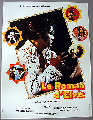 KURT RUSSELL – ELVIS PRESLEY–ELVIS THE MOVIE–1979 FRENCH MOVIE POSTER–NEAR MINT