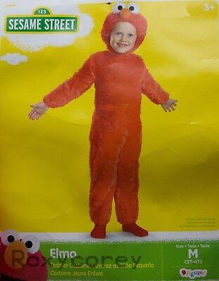Halloween Sesame Street Red Elmo Toddler Costume Size Medium 3T-4T - Elmo Halloween Costume