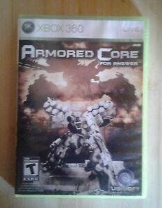 Used armored core for answer  xbox 360 rare videogame