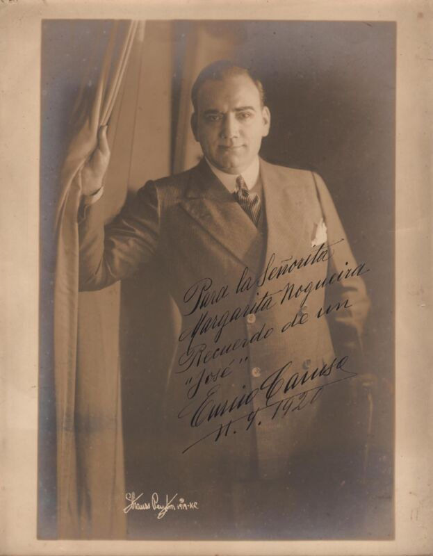 ENRICO CARUSO - HANDSIGNED Original PORTRAIT by Strauss Peyton - 1920