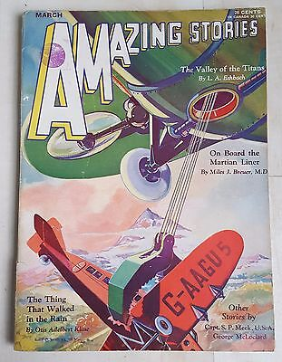 Amazing Stories vintage pulp fiction comic March 1931 vol 5 no 12
