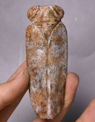 9CM China Hongshan Culture Old Jade Carve Cicada Cicala Animal Amulet Pendant