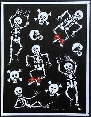 Sheet of Vintage Stickers - Hallmark - Halloween - Dated 1984](Date Of Halloween)