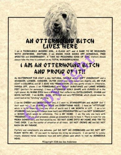 An Otterhound Bit^h Lives Here