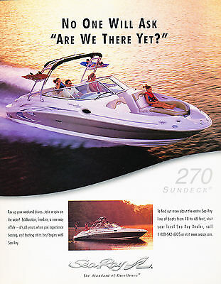 2005 Sea Ray 270 Sundeck Boat  Original Advertisement Car Print Ad J344
