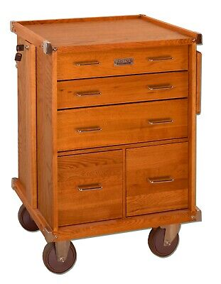 Gerstner International Gi-r20 5-drawer Oak Veneer Roller Cabinet Tools Hobby