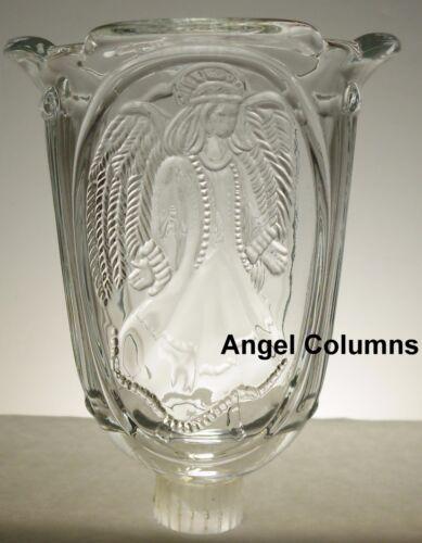 Home Interiors Clear Angel Columns Votive Cup w/ rubber grommet