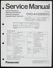 Panasonic Dvd-A150eb / Ec Original DVD Player Service