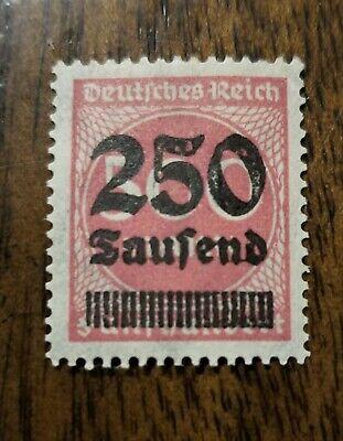 Deutsches Reich German Empire 1923 Overprinted 250 on 500 Mark Carmine Stamp