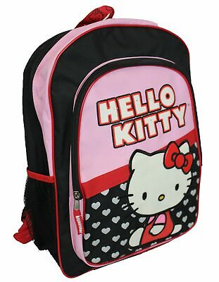 Hello Kitty Sitting Amongst Hearts Logo Backpack