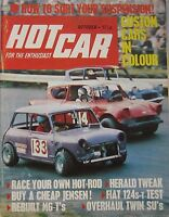 Hot Car Magazine October 10/1971 Featuring Fiat 124 Road Test, Jensen - hot car - ebay.co.uk