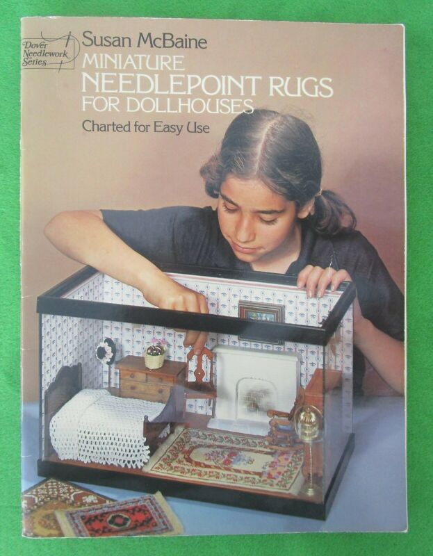 MINIATURE NEEDLEPOINT RUGS FOR DOLLHOUSES BY SUSAN MCBAINE - 37 CHARTED DESIGNS