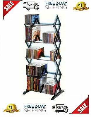 5 Tier DVD Shelf Storage CD Rack Tower BluRay Organizer Media Games Stand Holder Atlantic Plastic Media Storage