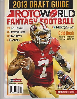 Rotoworld Fantasy Football Magazine 2013 Draft Guide  Gold Rush Kaepernick   Qb