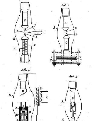 Elektronenröhre,Vakuumröhre,Röntgenröhre - J.E. Lilienfeld:  Dokumente 1912-1960