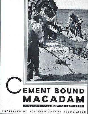 Brochure - Cement Bound Macadam Road Construction Paving Material C1939 E3354